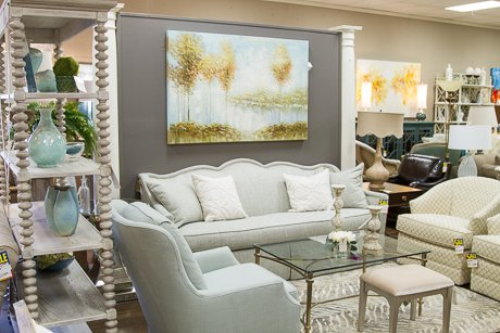 Lovely Living Room options at Cantrell Furniture Design Center store!